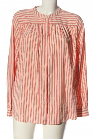 H&M Langarmhemd creme-rot Allover-Druck Casual-Look