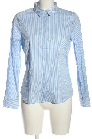 H&M Langarmhemd blau-weiß Streifenmuster Business-Look