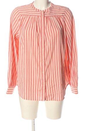 H&M Langarmhemd creme-rot Streifenmuster Casual-Look