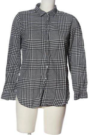 H&M Langarmhemd schwarz-weiß Allover-Druck Casual-Look