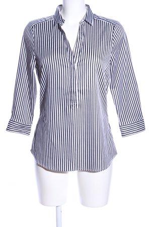 H&M Langarmhemd weiß-schwarz Streifenmuster Business-Look