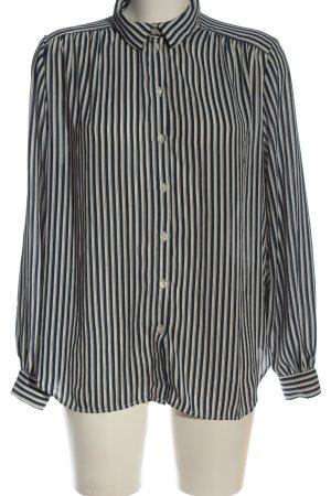 H&M Langarmhemd schwarz-wollweiß Streifenmuster Casual-Look