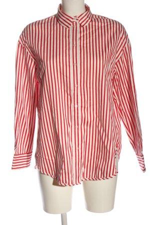 H&M Langarmhemd rot-weiß Streifenmuster Casual-Look