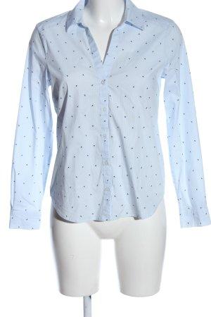 H&M Langarmhemd blau-schwarz Motivdruck Casual-Look
