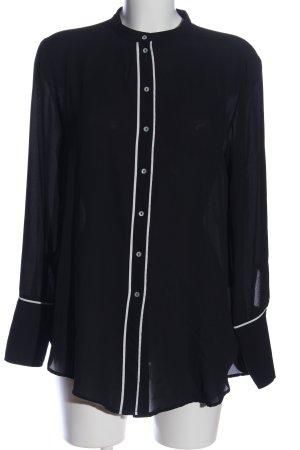 H&M Langarmhemd schwarz-weiß Business-Look