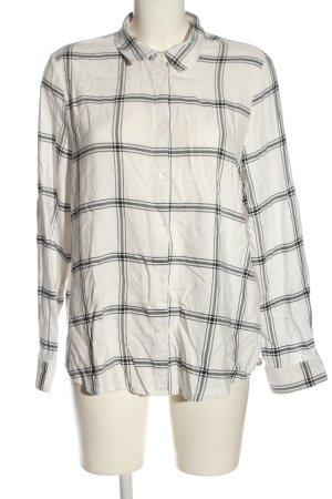 H&M Langarmhemd weiß-schwarz Streifenmuster Casual-Look