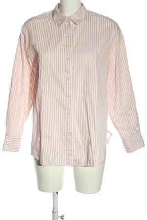 H&M Langarmhemd nude-weiß Streifenmuster Casual-Look