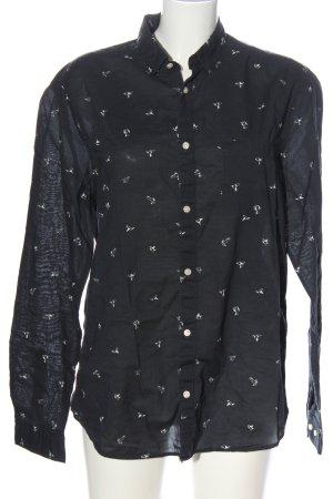 H&M Langarmhemd schwarz-weiß Casual-Look