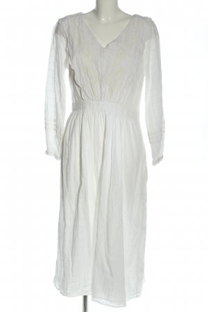 H&M Abito a maniche lunghe bianco stile casual