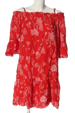 H&M Abito a maniche lunghe rosso stampa integrale stile casual
