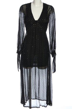 H&M Jurk met lange mouwen zwart elegant