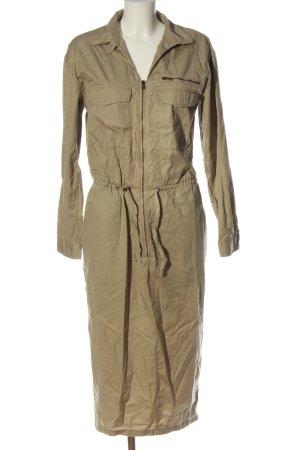 H&M Vestido de manga larga crema look casual