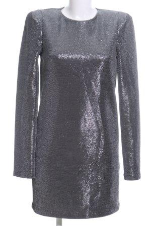 H&M Langarmkleid silberfarben meliert Elegant