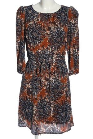 H&M Langarmkleid abstraktes Muster Casual-Look