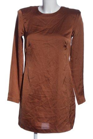 H&M Langarmkleid braun Casual-Look