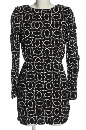 H&M Langarmkleid schwarz-weiß Casual-Look