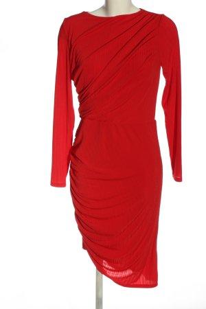 H&M Langarmkleid rot Elegant