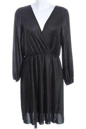 H&M Langarmkleid schwarz Streifenmuster Casual-Look