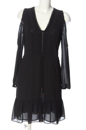 H&M Langarmkleid schwarz Elegant