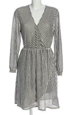 H&M Langarmkleid schwarz-weiß Streifenmuster Business-Look