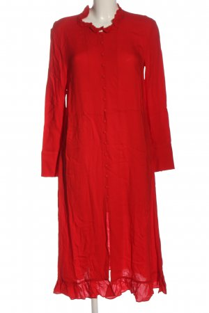 H&M Vestido de manga larga rojo look casual