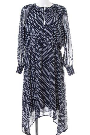 H&M Abito a maniche lunghe nero-bianco stampa integrale stile casual