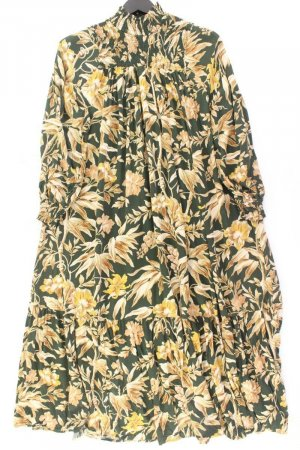 H&M Langarmkleid Größe 38 mit Blumenmuster mehrfarbig aus Viskose