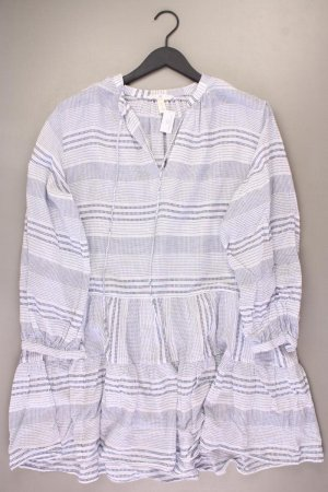 H&M Langarmkleid Größe S neuwertig blau aus Baumwolle