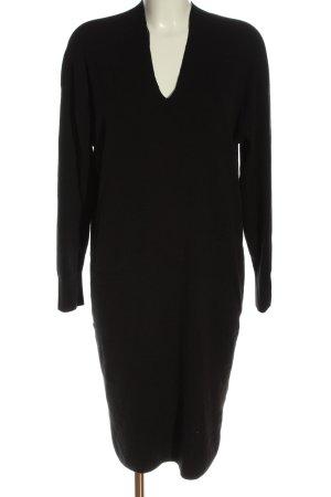 H&M Vestido de manga larga negro elegante