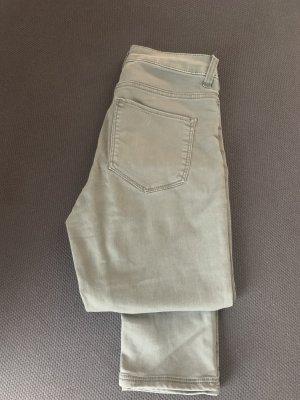 H&M DENIM Spodnie khaki khaki