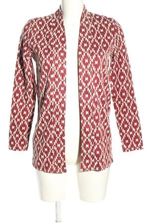 H&M Giacca lunga bianco-rosso stampa integrale stile casual
