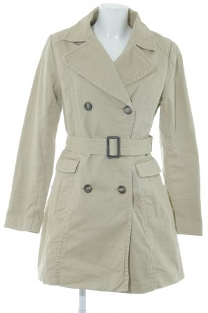 H&M Lange Jacke creme-beige Business-Look