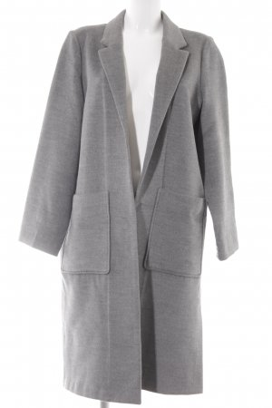 H&M Lange Jacke grau meliert Business-Look