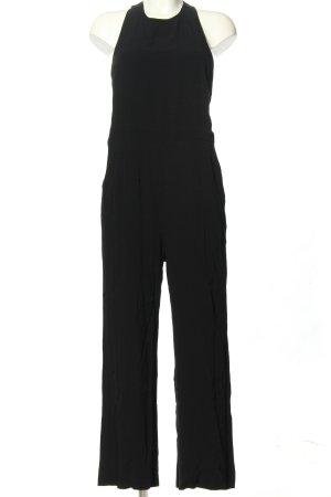 H&M Langer Jumpsuit schwarz Business-Look