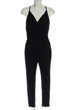 H&M Langer Jumpsuit schwarz Party-Look