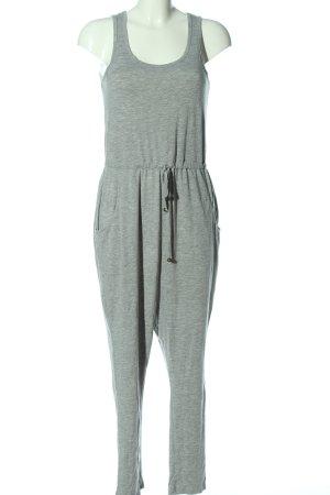 H&M Langer Jumpsuit gris claro moteado elegante
