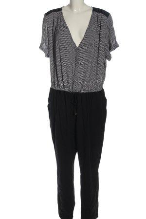 H&M Langer Jumpsuit schwarz-weiß Casual-Look