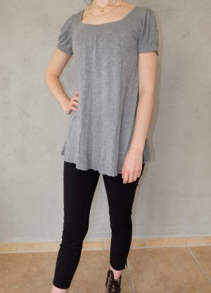 H&M Empire Waist Shirt grey viscose