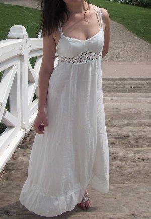 H&M langes Sommerkleid weiß Gr.S