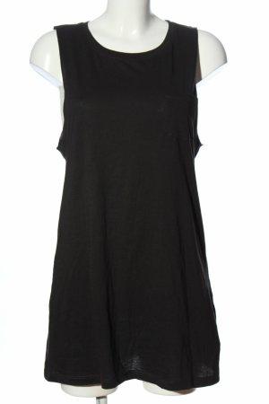 H&M Długi top czarny Bawełna