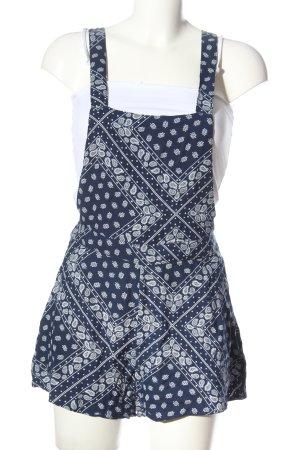H&M Salopette blu-bianco stampa integrale stile casual