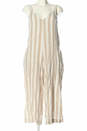 H&M Dungarees cream-natural white striped pattern casual look