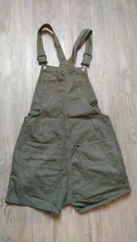 H&M Latzhose kurze Hose Shorts 34 XS khaki grün
