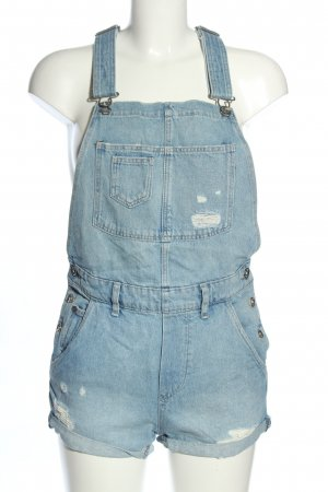 H&M Bib Denim blue casual look