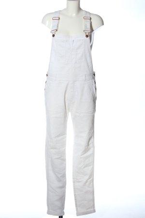 H&M Vaquero tipo peto blanco look casual