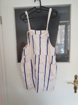H&M Basic Pinafore Overall Skirt natural white-blue