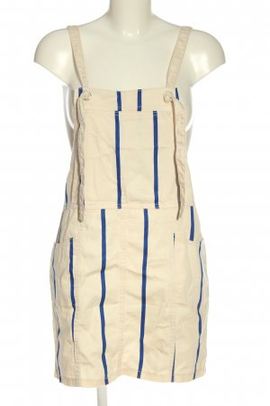 H&M Pinafore Overall Skirt cream-blue striped pattern casual look