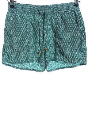 H&M Shorts türkis-weiß Allover-Druck Casual-Look