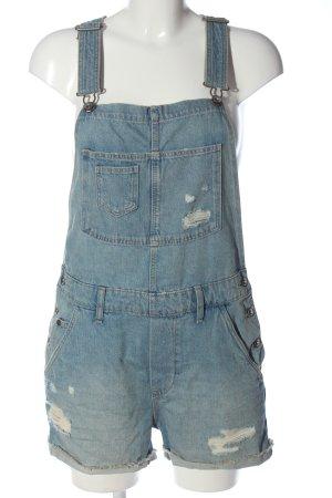H&M Bib Shorts blue casual look