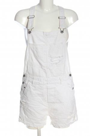 H&M Bib Shorts white casual look